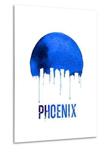 Phoenix Skyline Blue--Metal Print