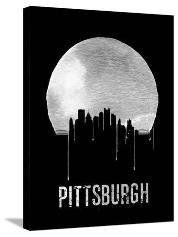 Pittsburgh Skyline Black--Stretched Canvas Print