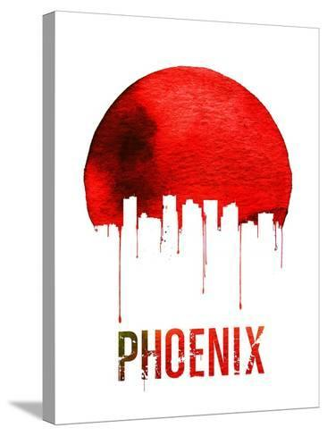 Phoenix Skyline Red--Stretched Canvas Print