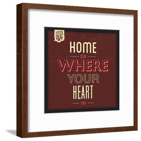 Home Is Were Your Heart Is-Lorand Okos-Framed Art Print