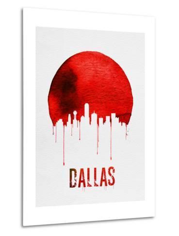 Dallas Skyline Red--Metal Print