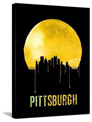 Pittsburgh Skyline Yellow--Stretched Canvas Print