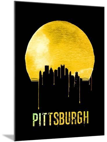 Pittsburgh Skyline Yellow--Mounted Art Print
