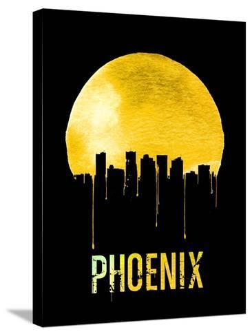 Phoenix Skyline Yellow--Stretched Canvas Print