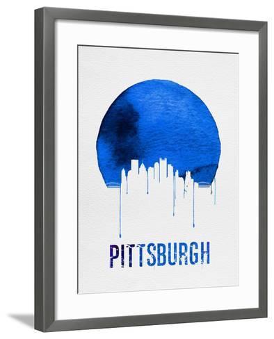 Pittsburgh Skyline Blue--Framed Art Print