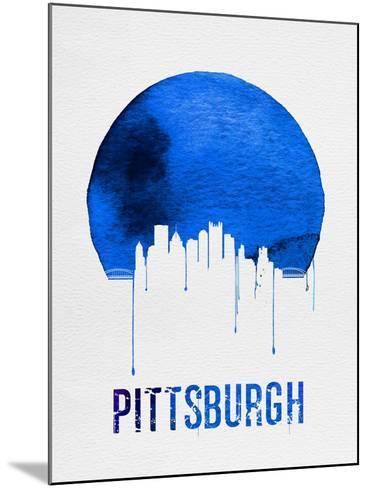 Pittsburgh Skyline Blue--Mounted Art Print