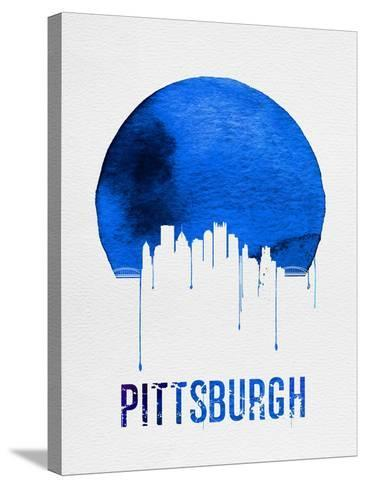 Pittsburgh Skyline Blue--Stretched Canvas Print