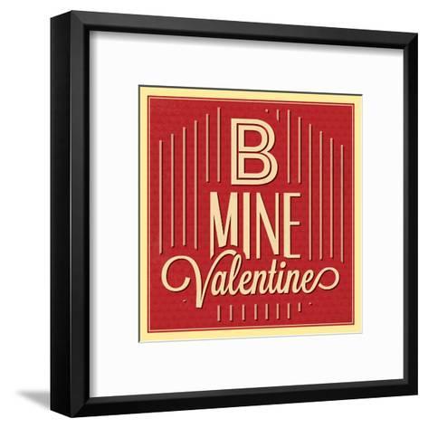 B Mine Valentine-Lorand Okos-Framed Art Print