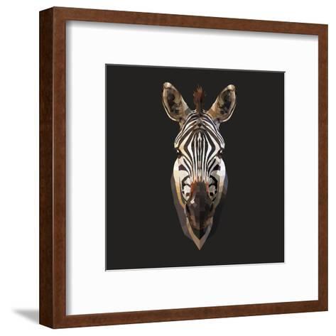 Zebra-Lora Kroll-Framed Art Print