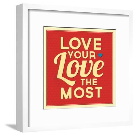 Love Your Love the Most-Lorand Okos-Framed Art Print