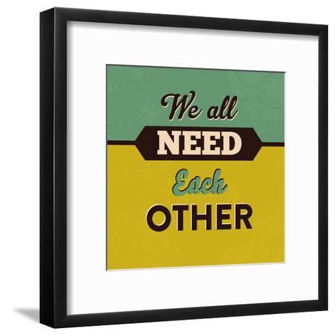 We All Need Each Other-Lorand Okos-Framed Art Print