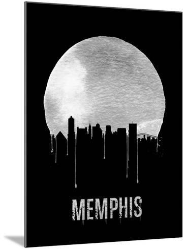 Memphis Skyline Black--Mounted Art Print