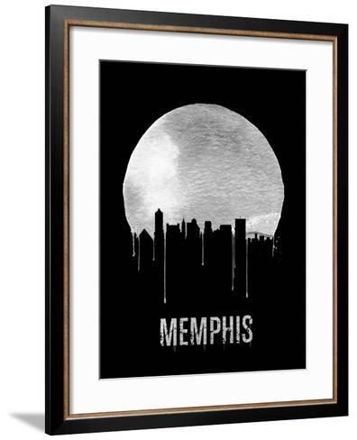 Memphis Skyline Black--Framed Art Print