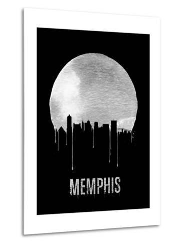 Memphis Skyline Black--Metal Print