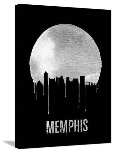 Memphis Skyline Black--Stretched Canvas Print