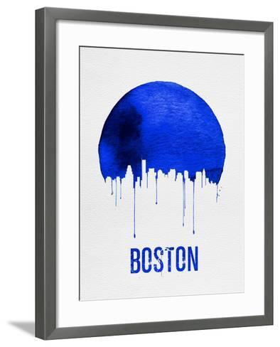Boston Skyline Blue--Framed Art Print