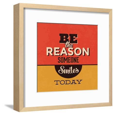 Be the Reason Someone Smiles Today-Lorand Okos-Framed Art Print