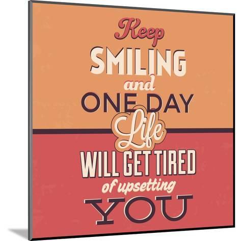 Keep Smiling-Lorand Okos-Mounted Art Print