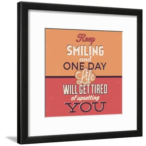 Keep Smiling-Lorand Okos-Framed Art Print