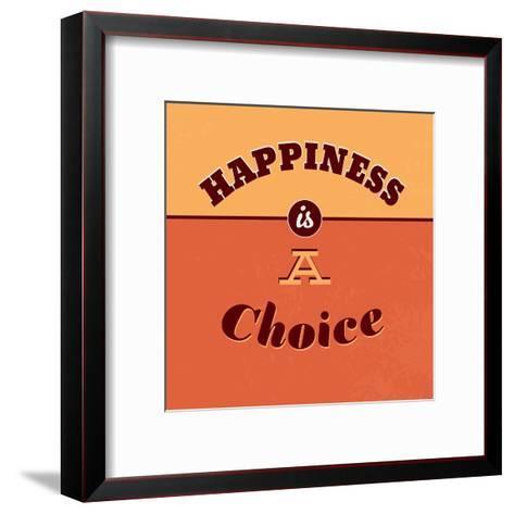 Happiness Is a Choice-Lorand Okos-Framed Art Print