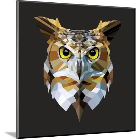 Owl-Lora Kroll-Mounted Art Print