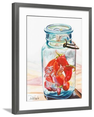 Ball Jar Ideal Peppers-Jennifer Redstreake Geary-Framed Art Print