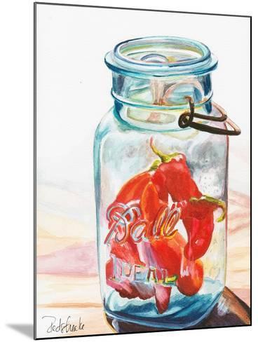 Ball Jar Ideal Peppers-Jennifer Redstreake Geary-Mounted Art Print