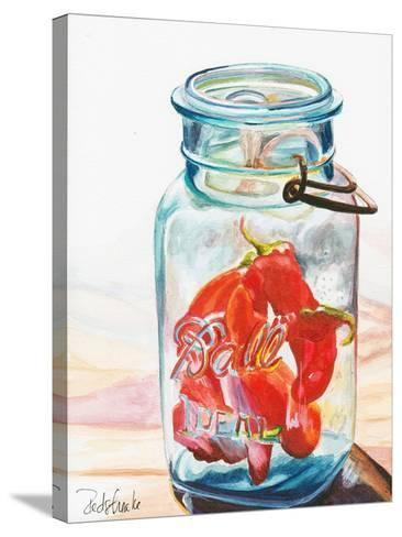 Ball Jar Ideal Peppers-Jennifer Redstreake Geary-Stretched Canvas Print