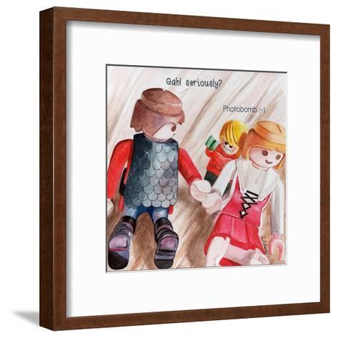 Photobomb 2-Jennifer Redstreake Geary-Framed Art Print