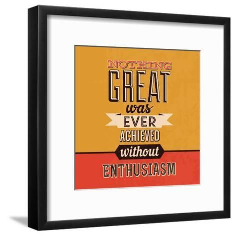 Enthusiasm-Lorand Okos-Framed Art Print