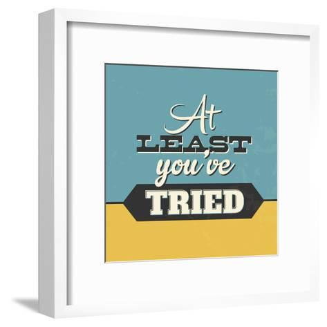 At Least You've Tried-Lorand Okos-Framed Art Print