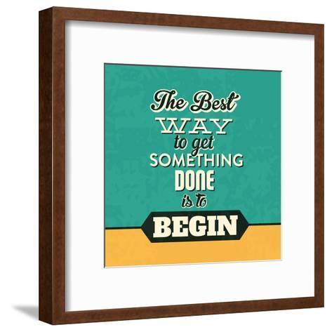 Get Something Done-Lorand Okos-Framed Art Print