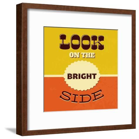 Look on the Bright Side-Lorand Okos-Framed Art Print
