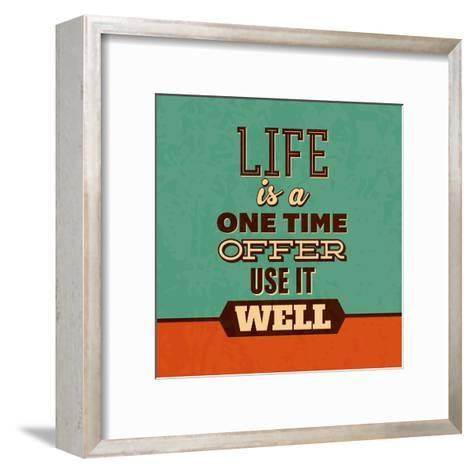 Life Is a One Time Offer-Lorand Okos-Framed Art Print