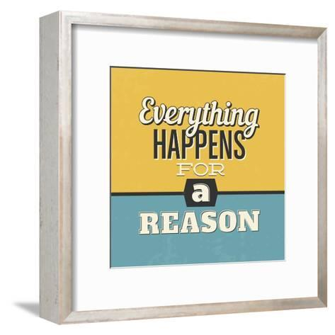 Everything Happens for a Reason-Lorand Okos-Framed Art Print
