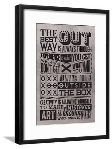 Creativity Set Grey-Vintage Vector Studio-Framed Art Print