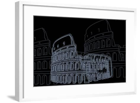 Coliseum Night-Cristian Mielu-Framed Art Print