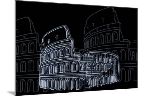 Coliseum Night-Cristian Mielu-Mounted Art Print