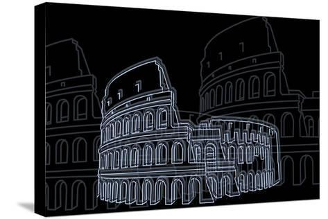 Coliseum Night-Cristian Mielu-Stretched Canvas Print