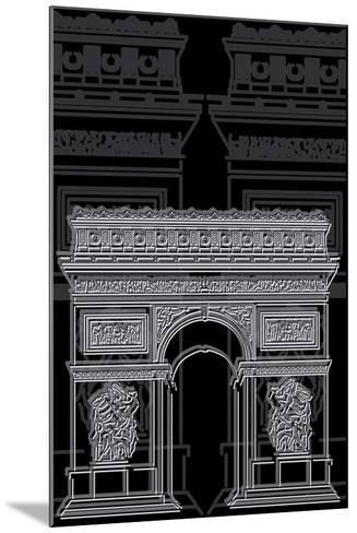 Arc De Triumph Night-Cristian Mielu-Mounted Art Print