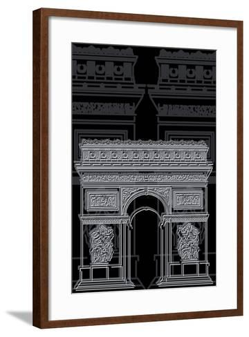 Arc De Triumph Night-Cristian Mielu-Framed Art Print