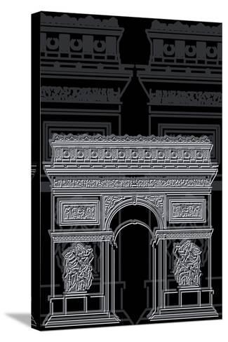 Arc De Triumph Night-Cristian Mielu-Stretched Canvas Print