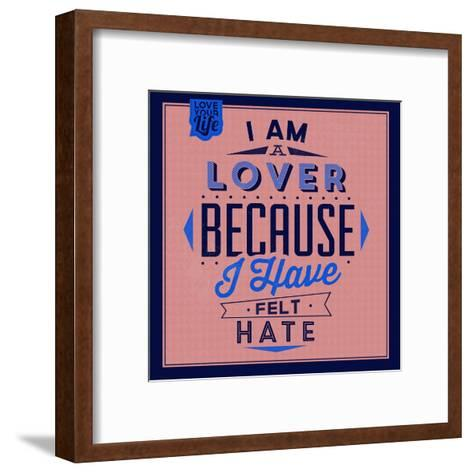 I'm a Lover 1-Lorand Okos-Framed Art Print