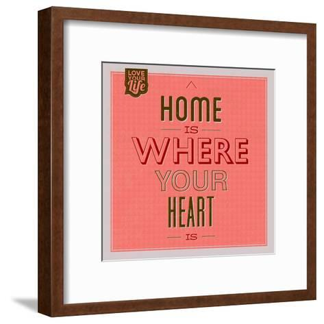 Home Is Were Your Heart Is 1-Lorand Okos-Framed Art Print