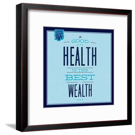 Health Is the Best Wealth 1-Lorand Okos-Framed Art Print