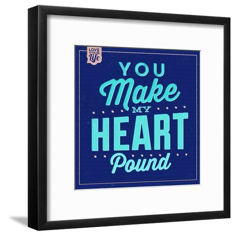 You Make My Heart Pound 1-Lorand Okos-Framed Art Print