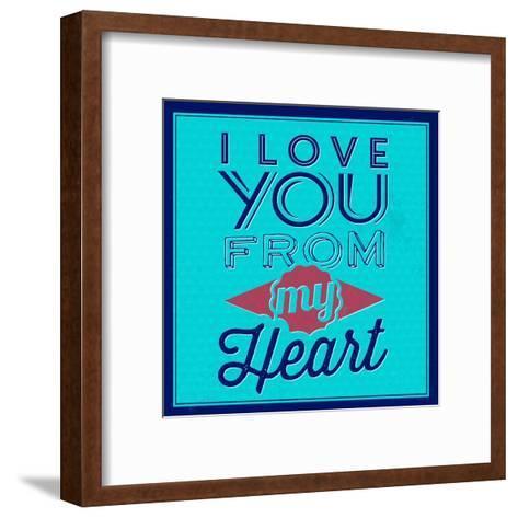I Love You from My Heart 1-Lorand Okos-Framed Art Print