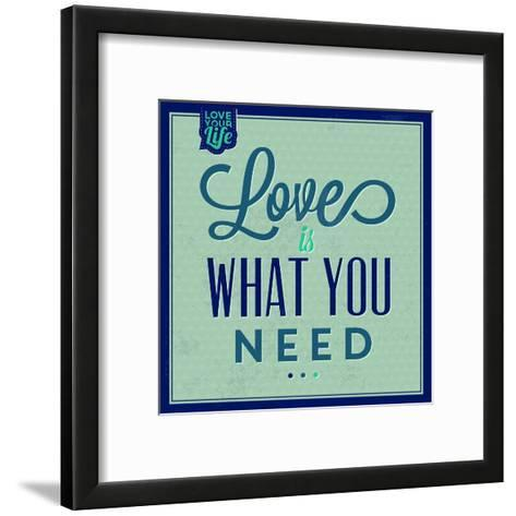 Love Is What You Need 1-Lorand Okos-Framed Art Print