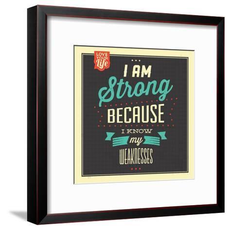 I'm Strong-Lorand Okos-Framed Art Print