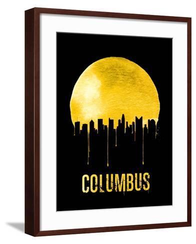 Columbus Skyline Yellow--Framed Art Print